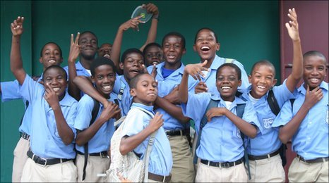 Pupils at Belmont Boys Secondary School