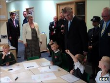 Prince Andrew at Rosebrook Primary