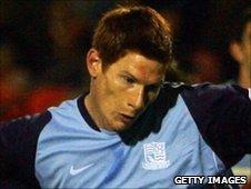 Shrewsbury Town striker Matt Harrold