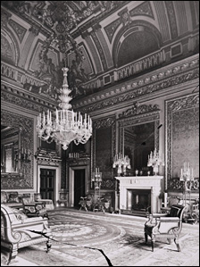 How the fireplace looked when it was installed in the Saloon at Devonshire House
