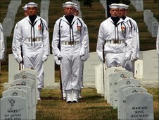 The funeral of a US Marine killed in Afghanistan