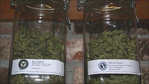 Jars of cannabis