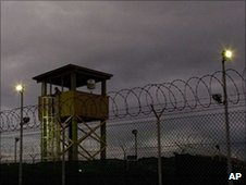 Guard tower overlooking Guantanamo detention facility