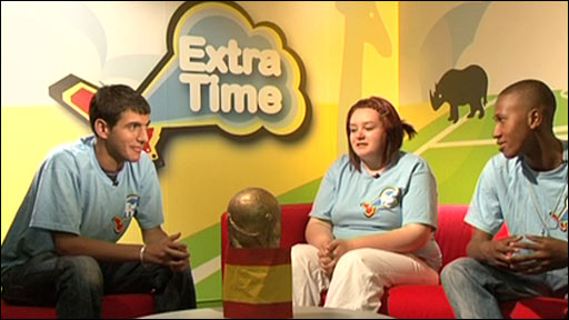 Students from The Media Trust in the Extra Time studio