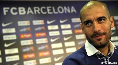 Barca coach Pep Guardiola