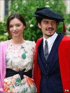 Orlando Bloom and his fiance Miranda Kerr