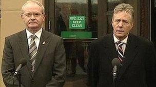 Martin McGuinness and Peter Robinson are to meet abuse victims