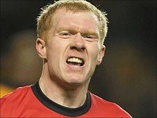 Man Utd midfielder Paul Scholes