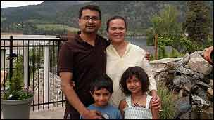 Radhesh Balakrishnan and family