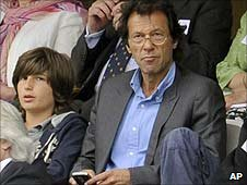 Former Pakistan captain Imran Khan