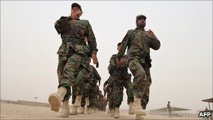 Afghan National Army soldiers in Kandahar