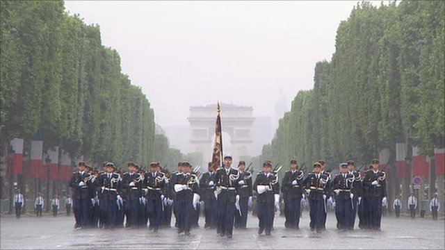 Armies On Parade. Champs Elysees parade