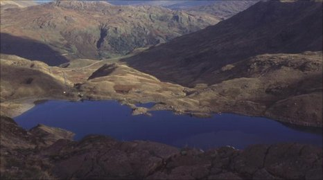 Snowdonia National Park as seen from Snowdon