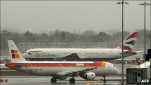 A BA and an Iberia place
