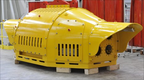 The Wave Hub which will sit on the seabed 10 miles off the Cornish coast as part of the Wave Hub project,