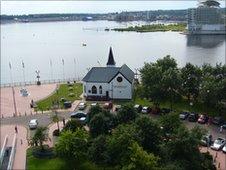 Norwegian church - photo by Cliff Powell