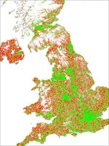 Map showing notspots in UK