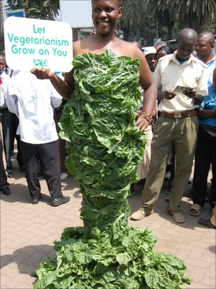Michelle Odhiambo in her spinach dress