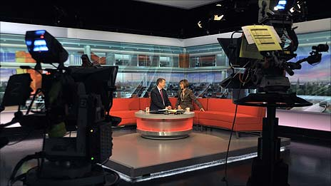 Bill Turnbull and Sian Williams on the BBC Breakfast set