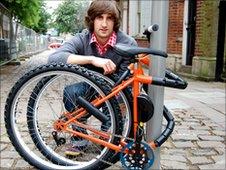 Kevins' folding bike