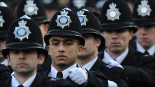 Newly-qualified police officers
