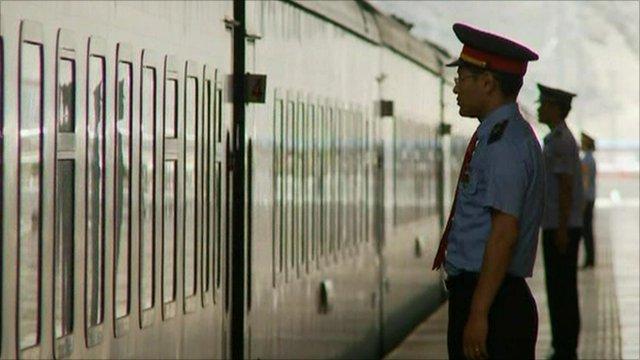 Train in Tibet