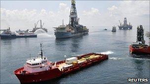 Deepwater Horizon drill site