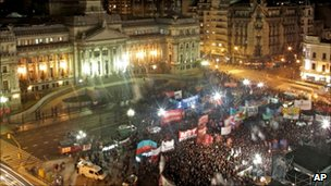 Pro-gay marriage rally outside Argentinian congress