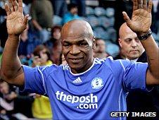 Mike Tyson at Peterborough v West Ham