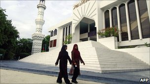 The Grand Friday Mosque in the Maldives' capital of Male in October 2007