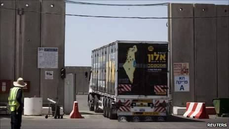 Kerem Shalom truck crossing, 21 June