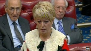 Helen Newlove taking her seat the House of Lords