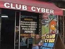 Internet cafe in Rio de Janeiro