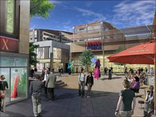 Artists impression of Trinity Square plans