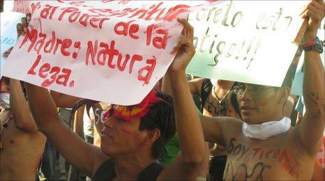 Locals rallying in Peru