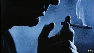 A smoker. Cristina Pedrazzini/SPL