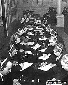 Trainee telegraph operators