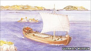 Artist's impression of Gallo-Roman wreck Asterix by Penny Dorey. Picture courtesy Guernsey Museum and Art Gallery