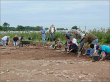 Volunteers at a Roman dig on Anglesey