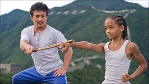Jackie Chan and Jaden Smith in The Karate Kid