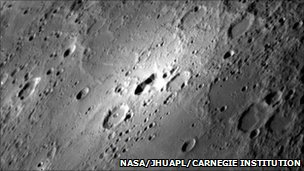 Impact craters and volcanic activity on the surface of Mercury (Image: NASA/JHU Applied Physics Laboratory/Carnegie Institution)
