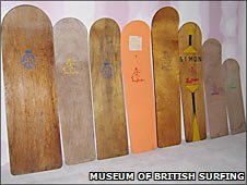 Museum of British Surfing. Dick Pearce's boards