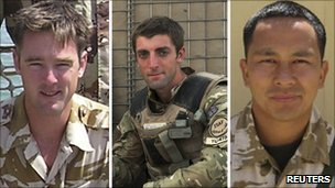 Three UK servicemen killed by Afghan soldier