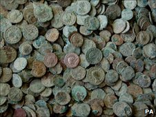 Roman coin hoard discovered in Frome by Dave Crisp