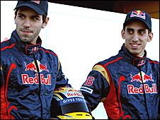 Toro Rosso drivers Jaime Alguersuari and Sebastien Buemi
