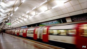 A London Underground train