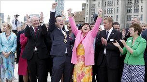 The jubilant Derry bid team react to winning UK City of Culture