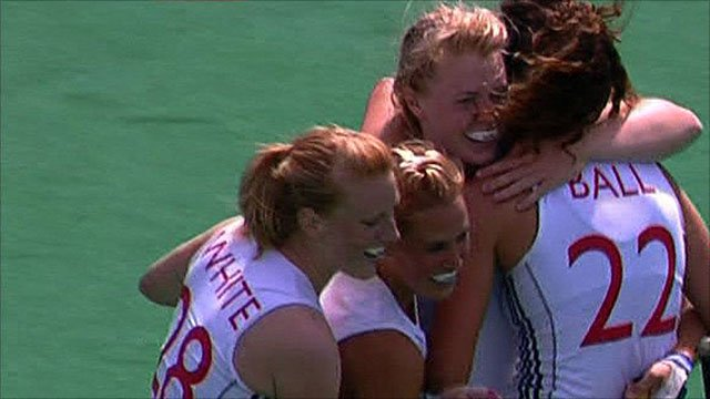 England celebrate the win over China