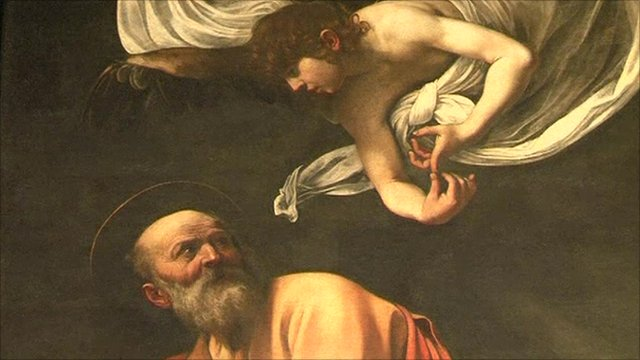 Detail from Caravaggio painting