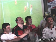 US fans watch the World Cup